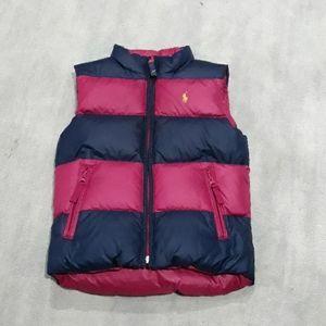 Girls Reversible Ralph Lauren Polo Puffer Vest